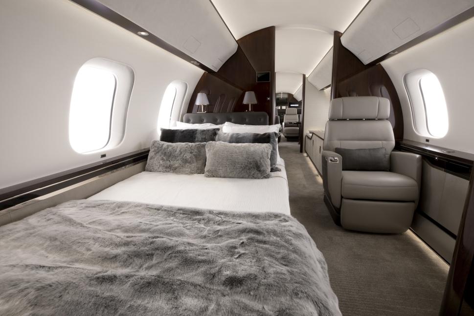 Bombardier Global Ultra-Long-Range Jet Cabin
