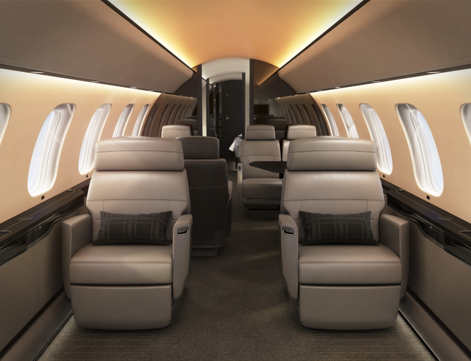 Bombardier's Global 7500 Soleil Dynamic Lighting System