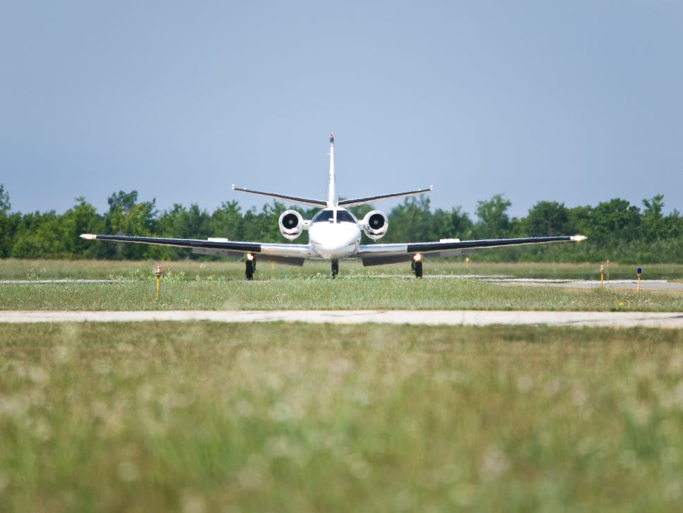 Cessna Citation Private Jet on Airport Ramp