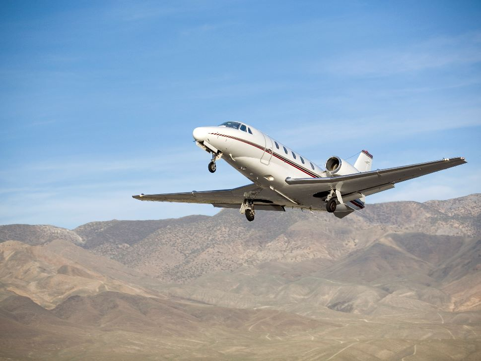Cessna Citation Jet Landing