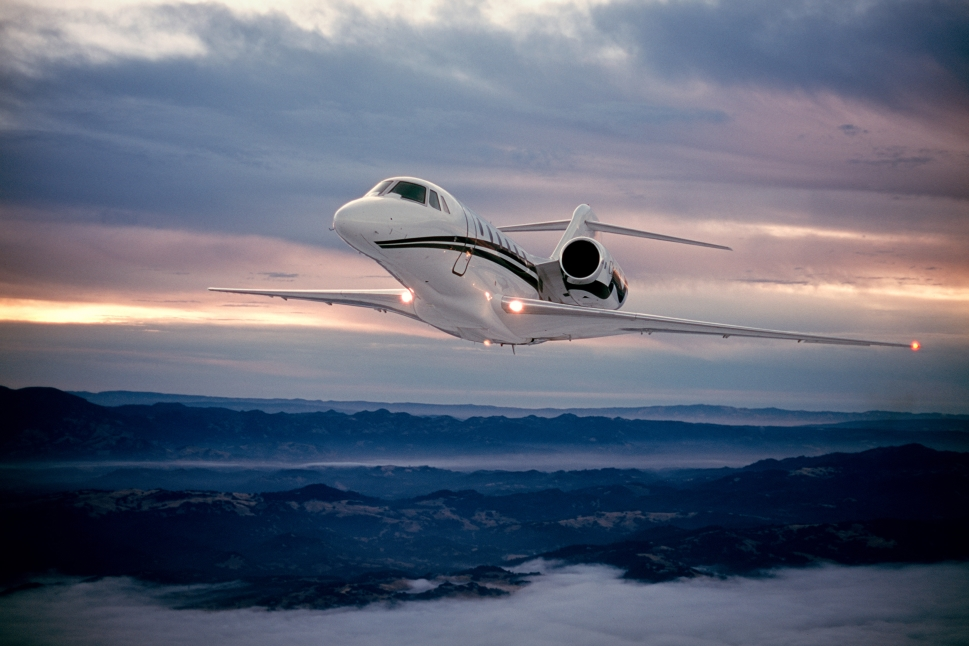 Cessna Citation X Private Jet Mid-Flight
