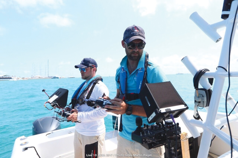 Combined Drone and Camera Operations at the Americas Cup, Bermuda