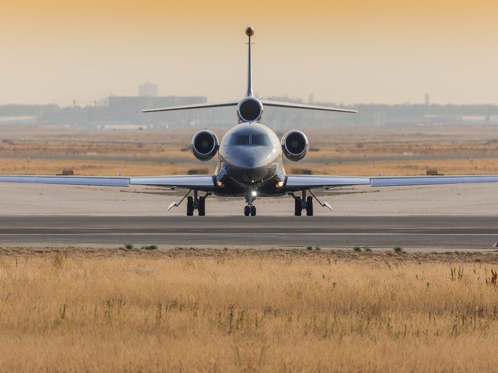 Dassault Falcon 7X Parket at Airport