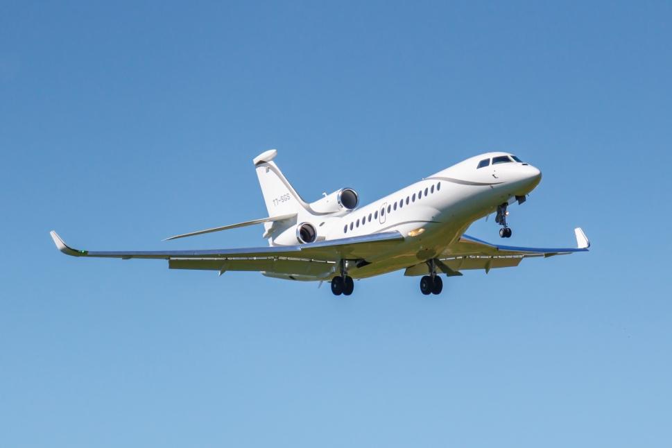 Dassault Falcon 7X Private Jet in Flight