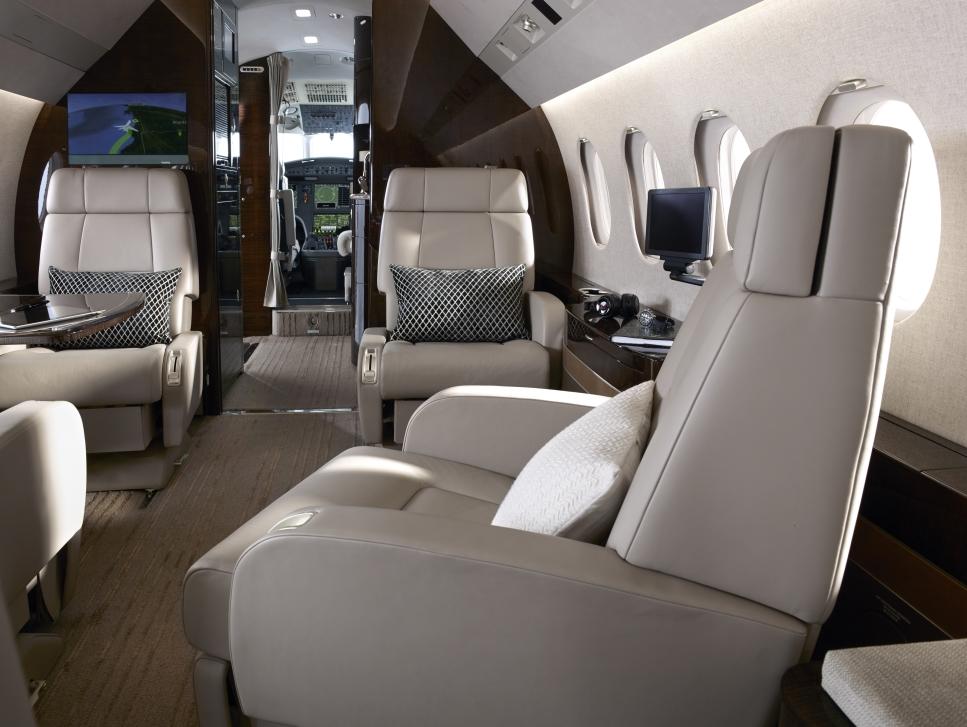 Dassault Falcon Private Jet Cabin