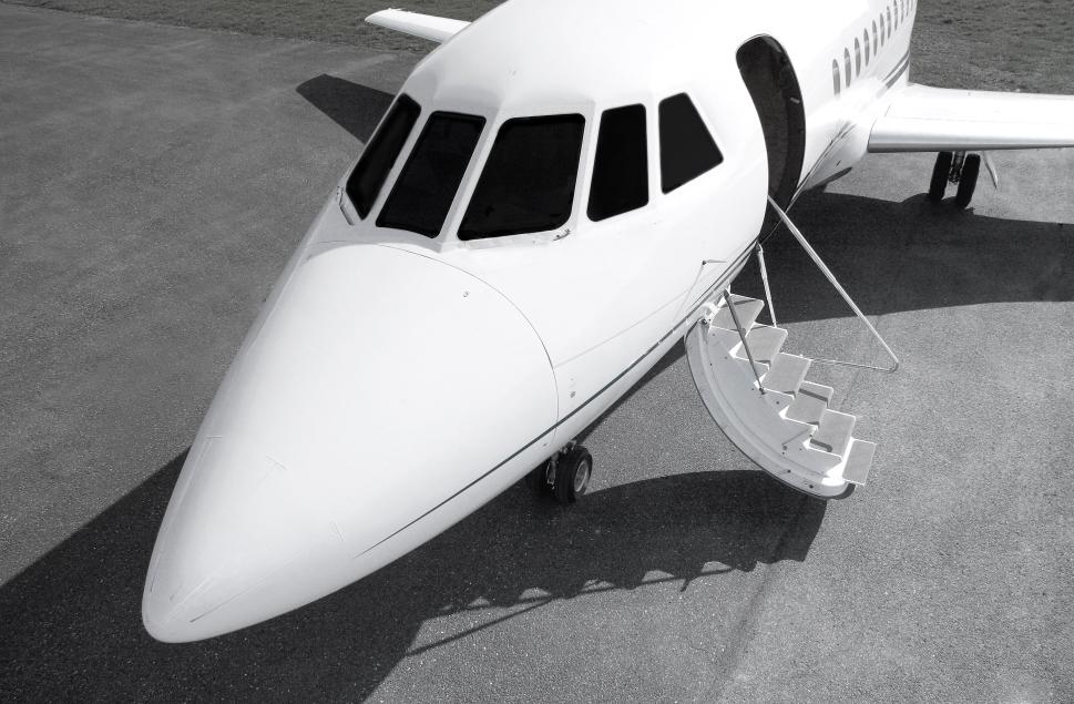 Dassault Private Jet With Door Open