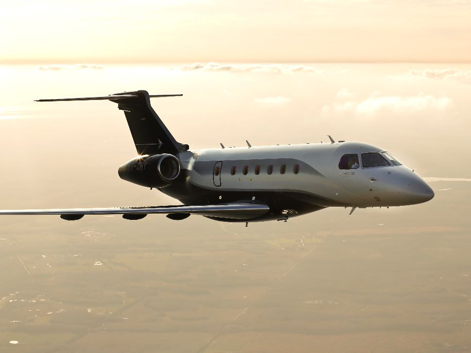 Embraer Legacy 500 Private Jet in Flight