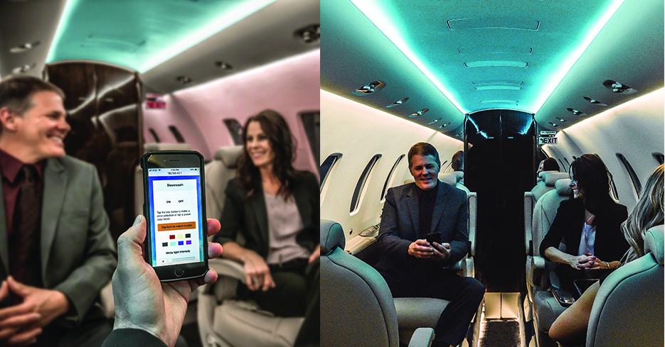 Elliott Aviation's Prizm RGB LED Cabin Lighting System