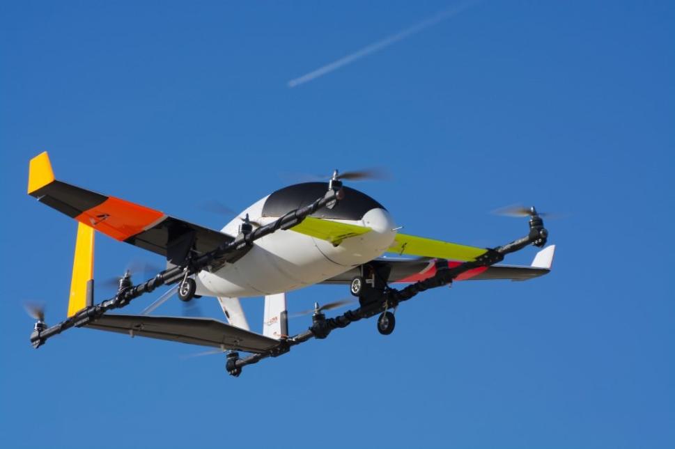eVTOL Aircraft in Flight