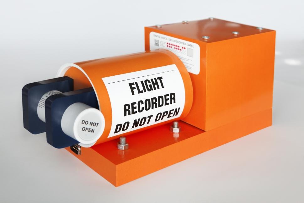 Bright Orange Flight Data Recorder