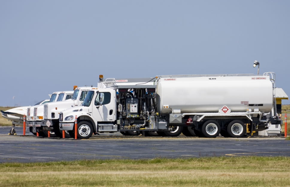 Fuel Truck Carrying Jet-A at Airport