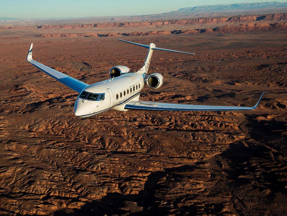 Gulfstream G650 Private Jet In Flight