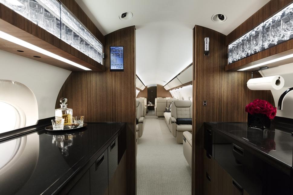 Gulfstream G650 Galley and Cabin
