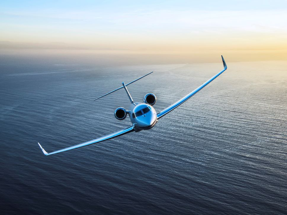 Gulfstream G650 Business Jet in Flight