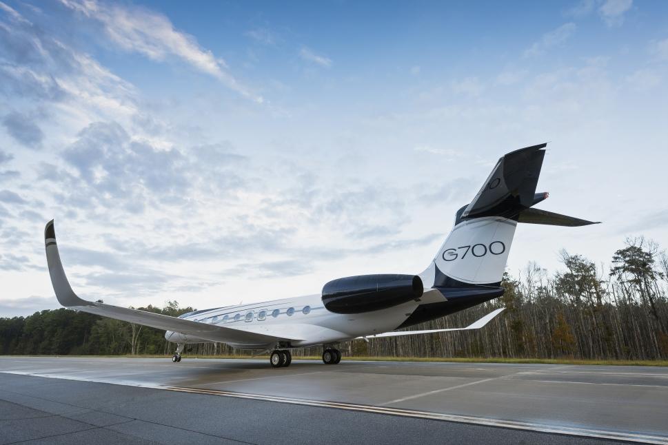 Gulfstream G700 Private Jet on Runway
