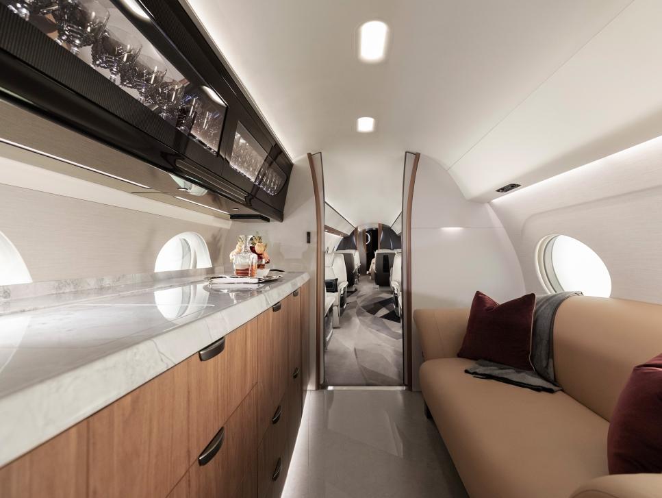 Gulfstream G700 Galley and Interior