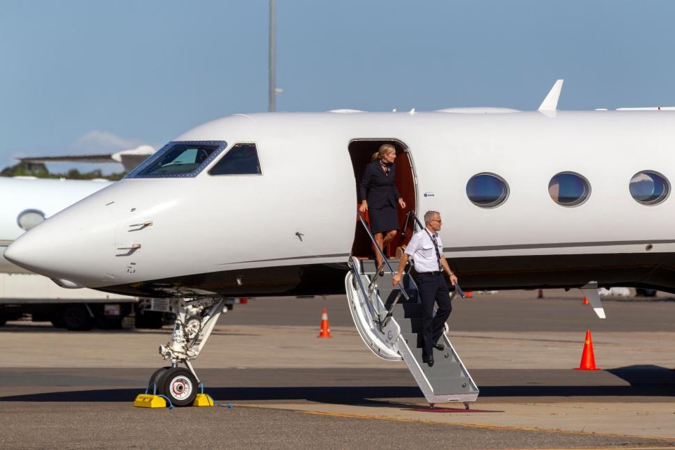 Gulfstream Private Jet Crew Exit Airplane in Sydney Australia