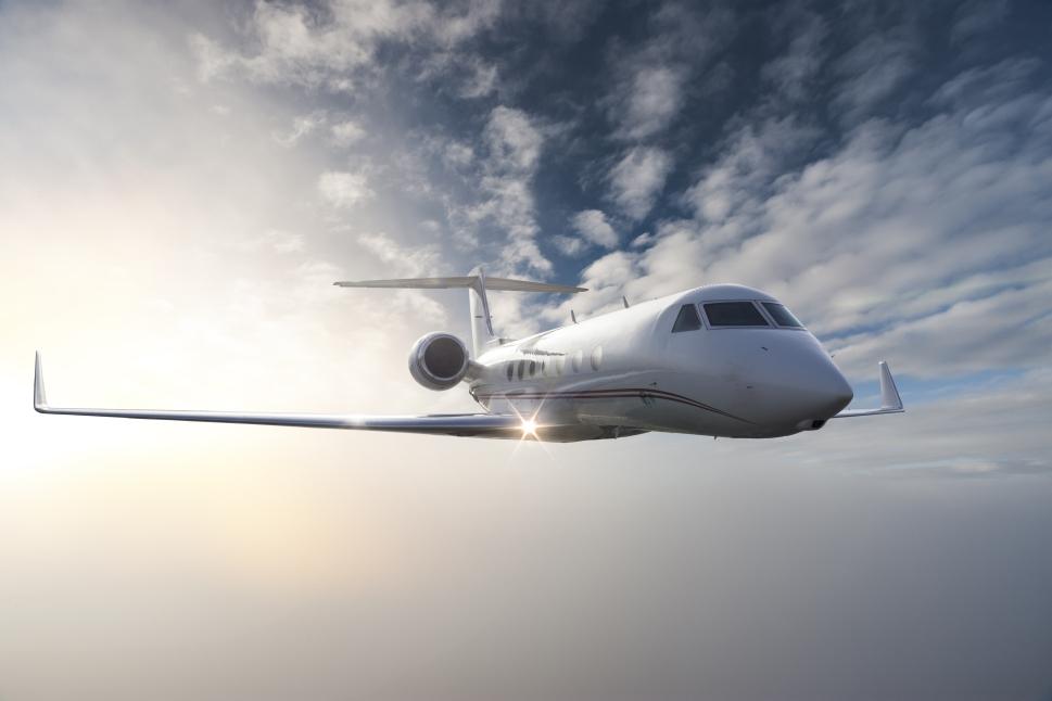 Gulfstream Private Jet in Flight