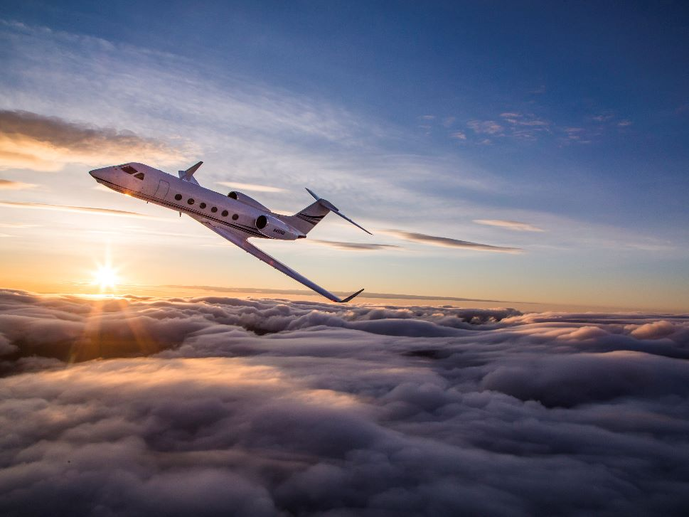 Gulfstream Private Jet In-Flight