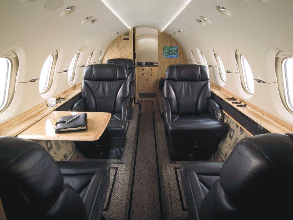 Hawker 850XP VIP Cabin