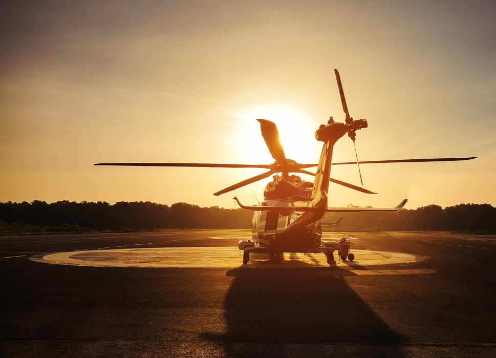 Helicopter in the Sunset
