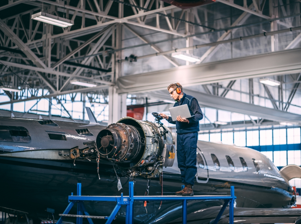 Where can I find business jet engine maintenance?