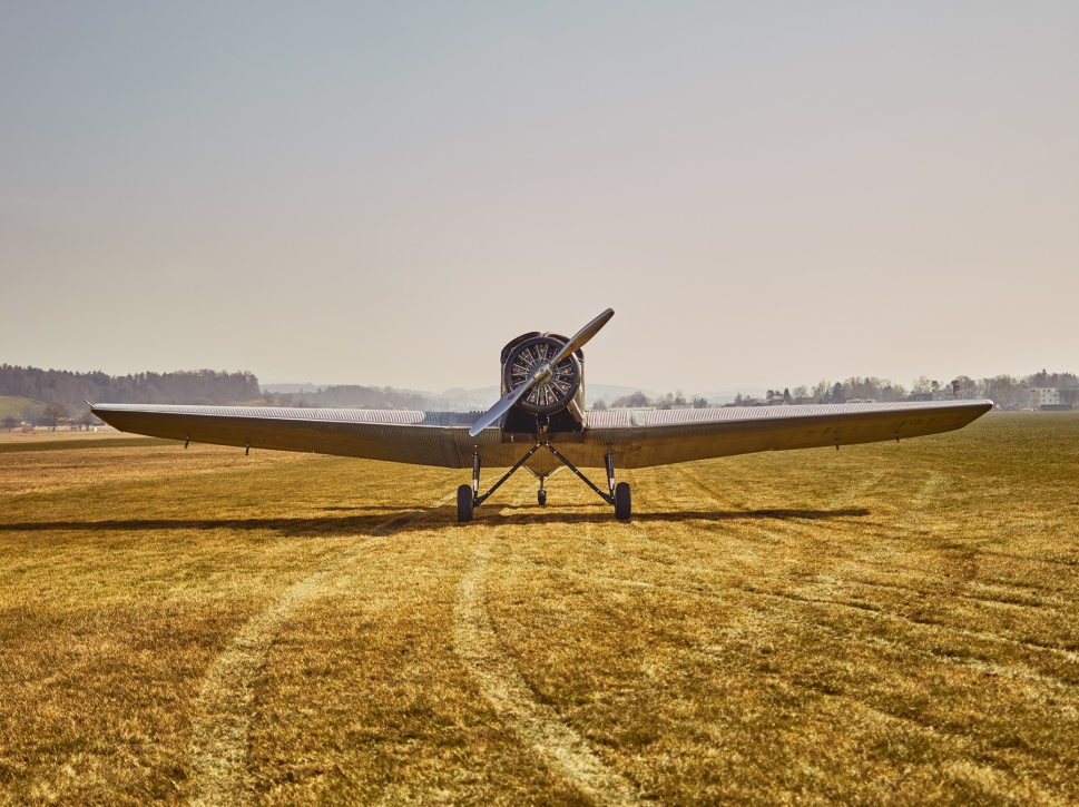 Junkers F 13 Sits in a Field Awaiting its Pilot