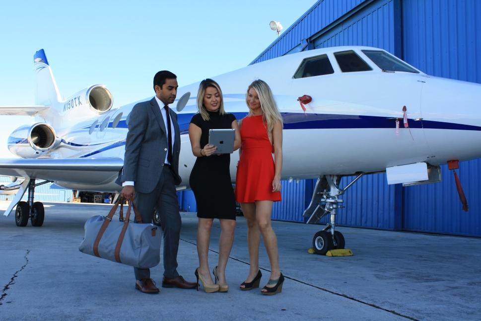 Millennials in a Private Jet