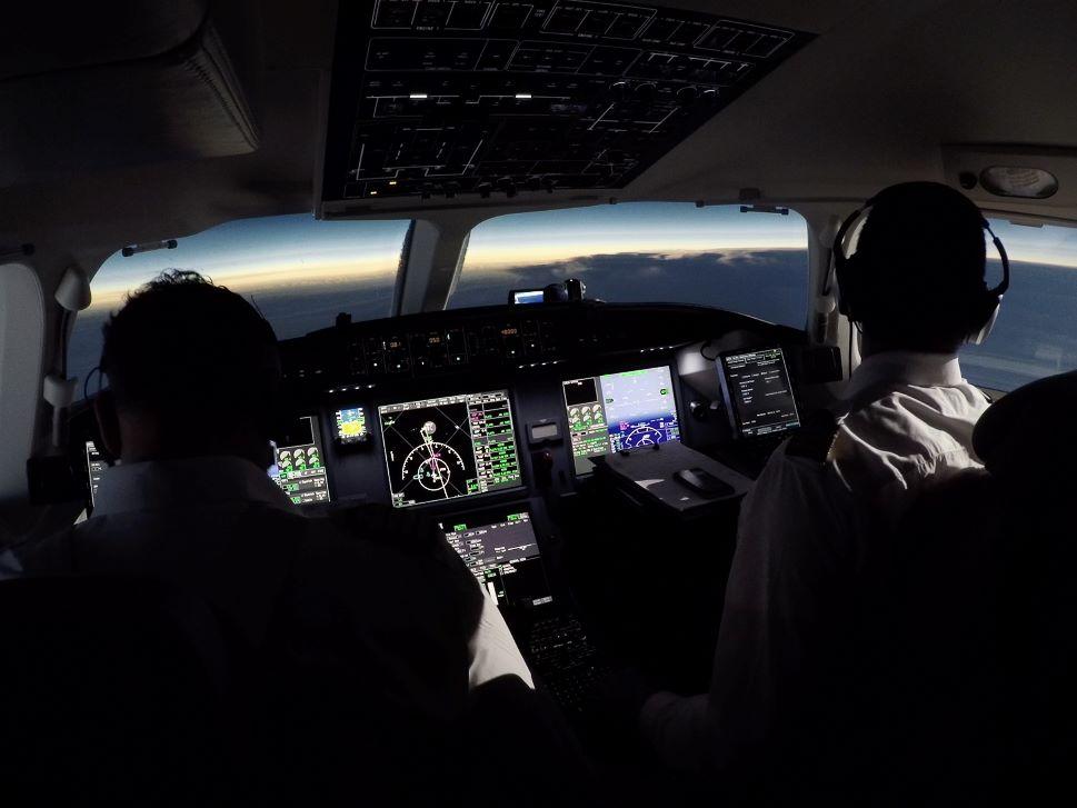 Modern Day Private Jet Flight Panel