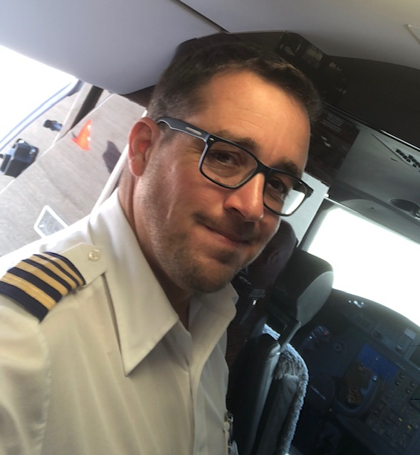 Matthew Webb by cockpit