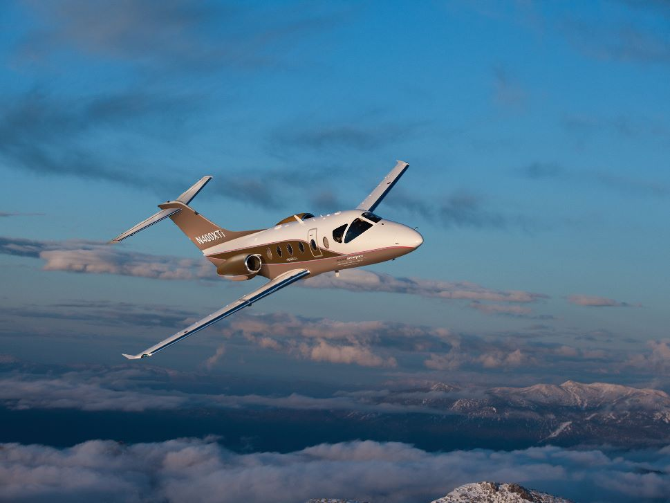 Nextant 400XTi Private Jet in Flight