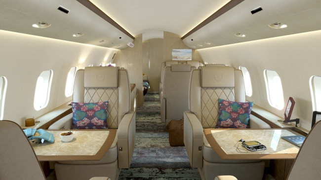 Bombardier Business Jet Cabin