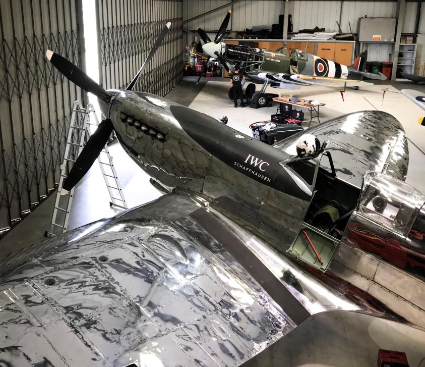 Boutbee Flight Academy hangar Goodwood Spitfire