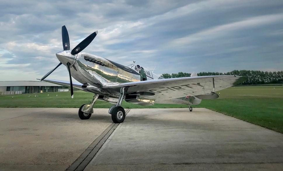 Goodwood Aerodrome Silver Spitfire