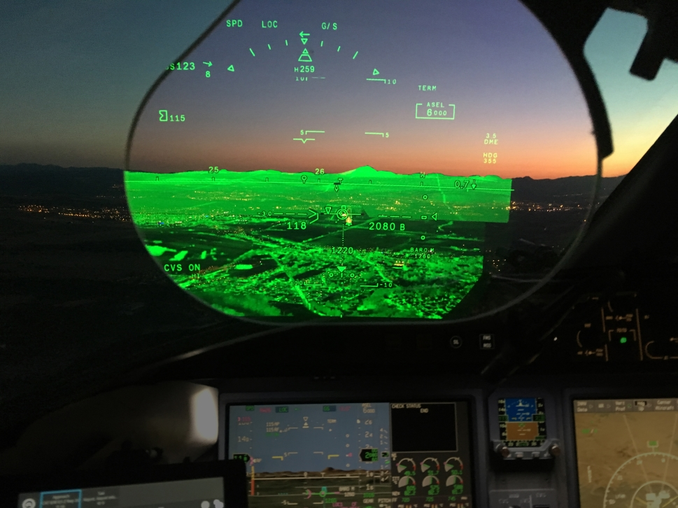 Enhanced Vision System installed in a Private Jet Cockpit