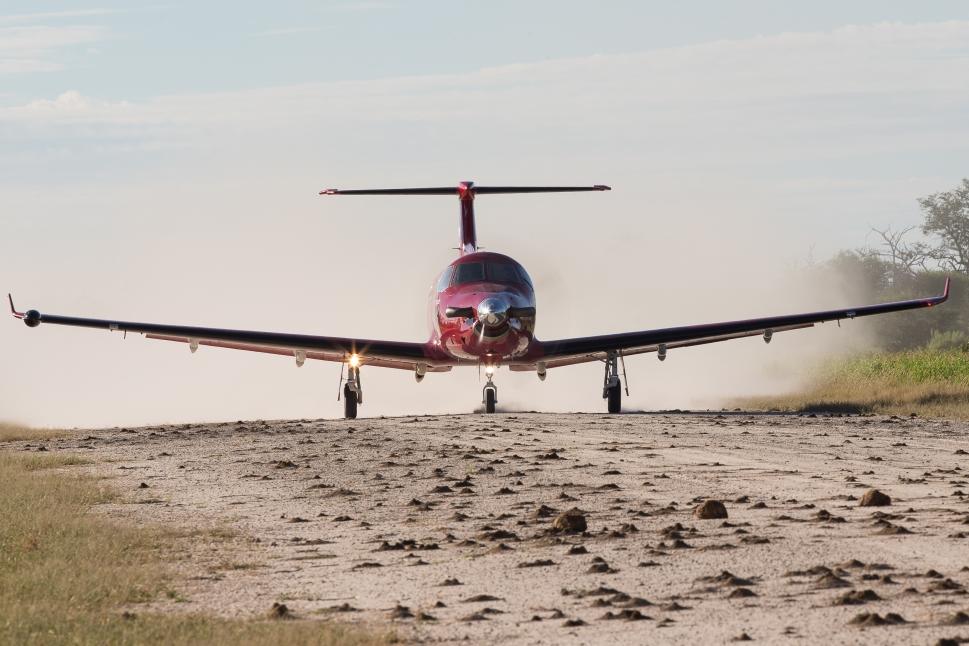 Pilatus PC-12NG Turboprop on Unimproved Runway