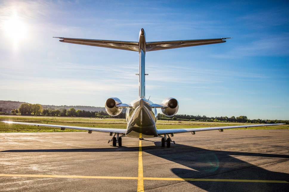 Pilatus PC-24 Super Versatile Jet Rear View