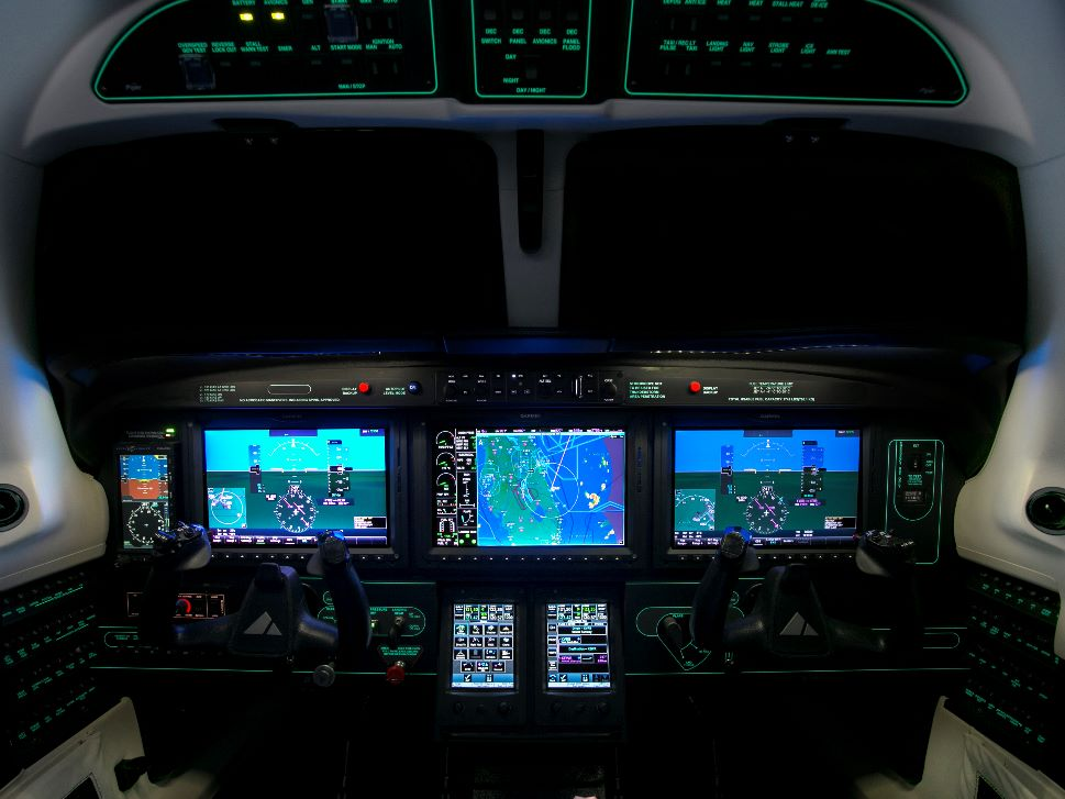 Piper M600 Turboprop's Garmin G3000 avionics panel