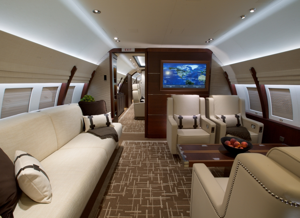 Private Jet With Newly Completed Lounge Area