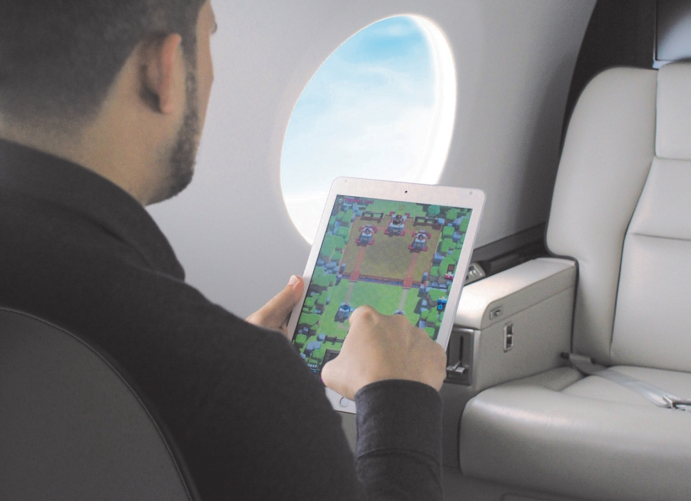Private Jet Passenger Gaming Experience