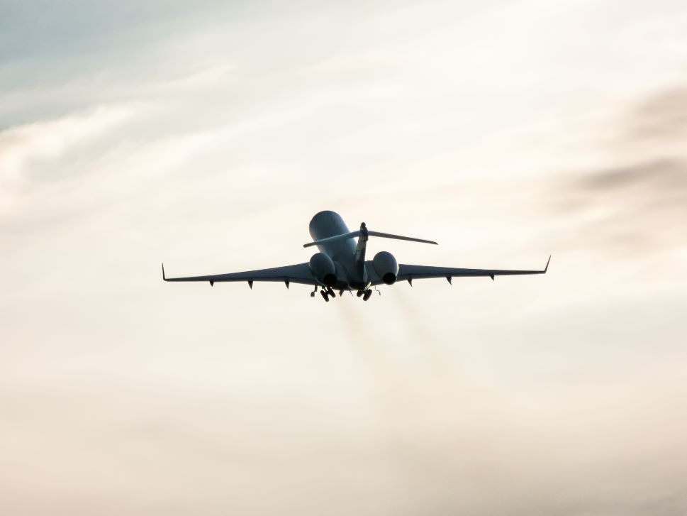 Private Jet Launches into Sky