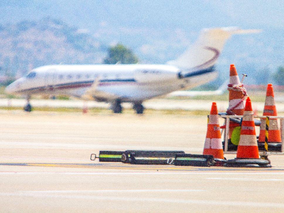 Private jet awaits passengers at Turkish airport