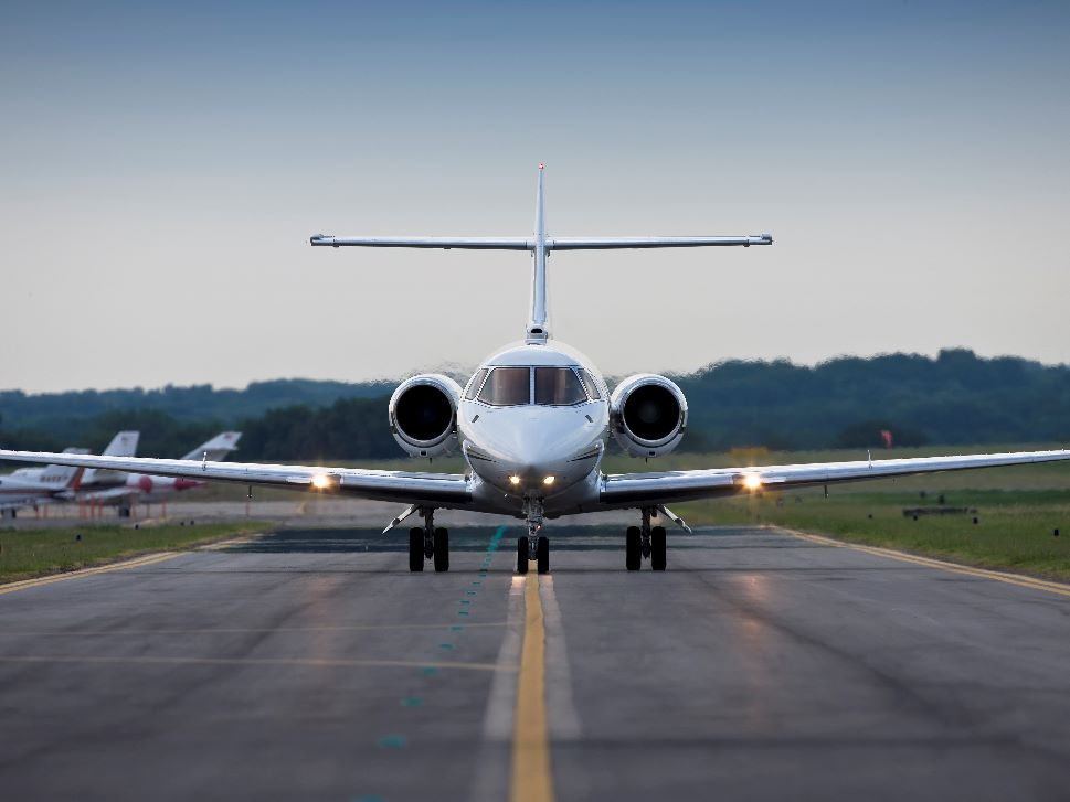 Private Jet on Airport Taxiway