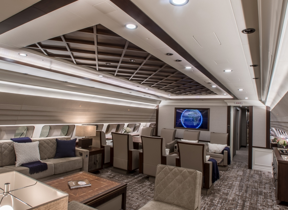 Private Jet With Newly Completed Cabin