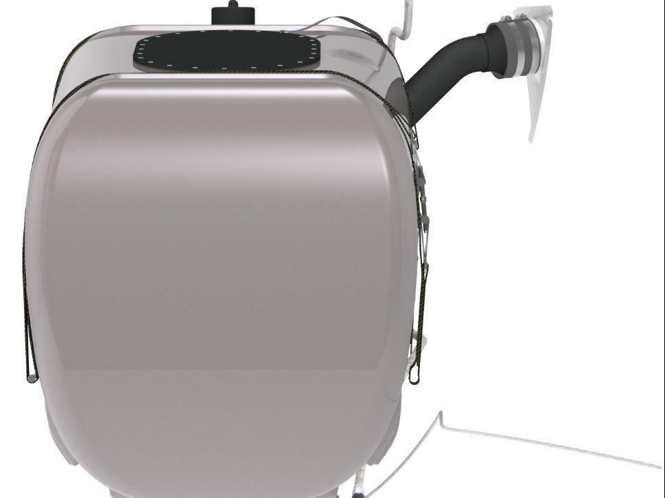 StandardAero Crash Resistant Fuel Tank Front View