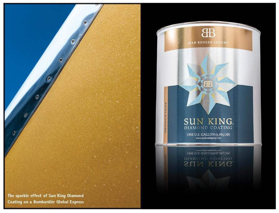 Sun King Diamond Coating Applied to Bombardier Global Express