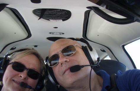 Pilots man and women taking selfie