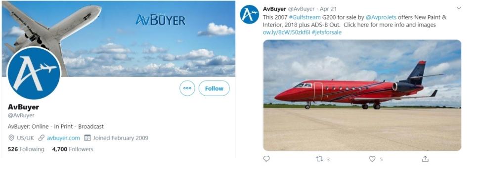 AvBuyer Twitter Feed and Profile