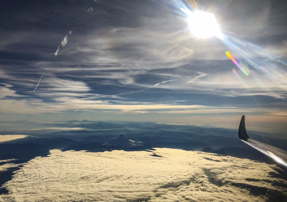 A view from a business jet window
