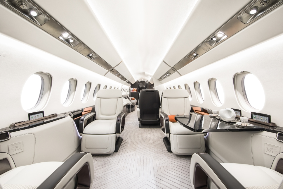 Dassault Falcon 6X Yacht & Aviation Awards-winning cabin design